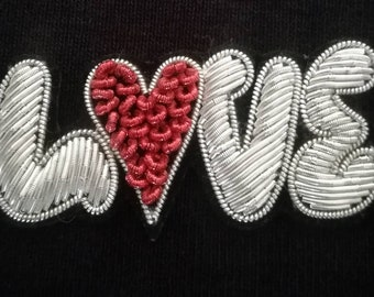 love embroidered #broderie love