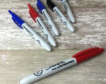 Retractable Sharpie permanent marker, ultra-fine point