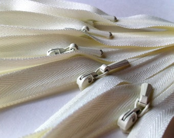 INVISIBLE Zippers 12 Inch YKK Color 502 Ivory- 10 Pieces