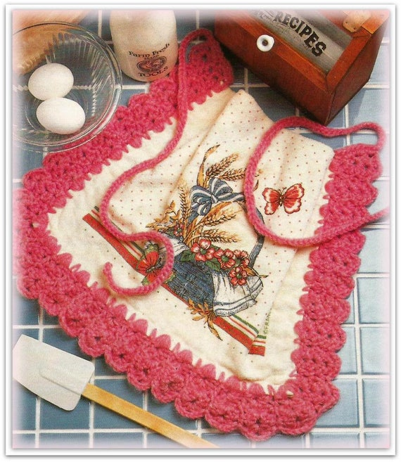 Kitchen Towel Apron Crochet Pattern CR834733
