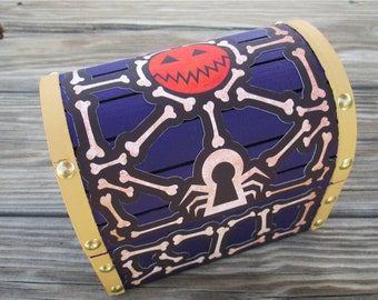 Kingdom Hearts 2 Remix inspired Halloween Town treasure chest / jewelry box (Made to Order)