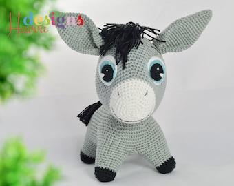 Crochet Pattern - Donkey (Amigurumi Toy Pattern)