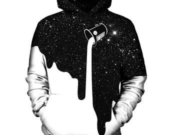 White Galaxy Hoodie | Rave, EDM, Festival Hoodie