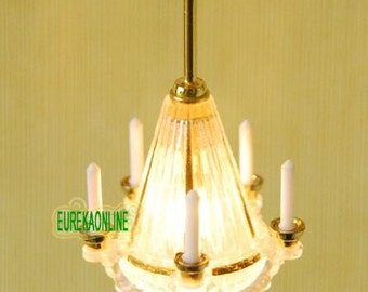 1/12 Dolls House Miniature Working Ceiling Light New