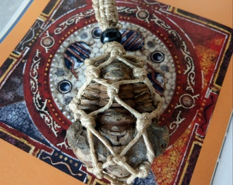 AGELESS - Hemp Wrapped Trilobite Meditation Necklace /Fossil Meditation Necklace UHEAL