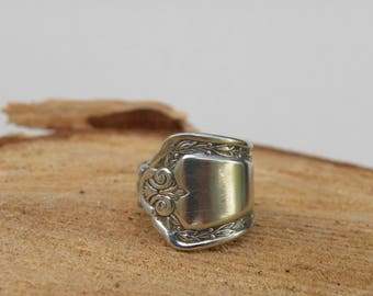Vintage Silverware Spoon Ring, Size 7 or 17.2.  Boho, Hippie Style Spoon Ring