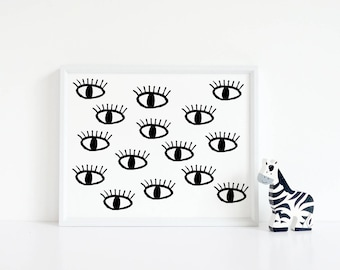 Instant Download, All Seeing Eye, Printable Art, Printable, Home Decor, Eyes, Motivational, Printable Wall Art