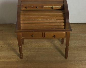 Dollhouse furniture vintage roll top desk