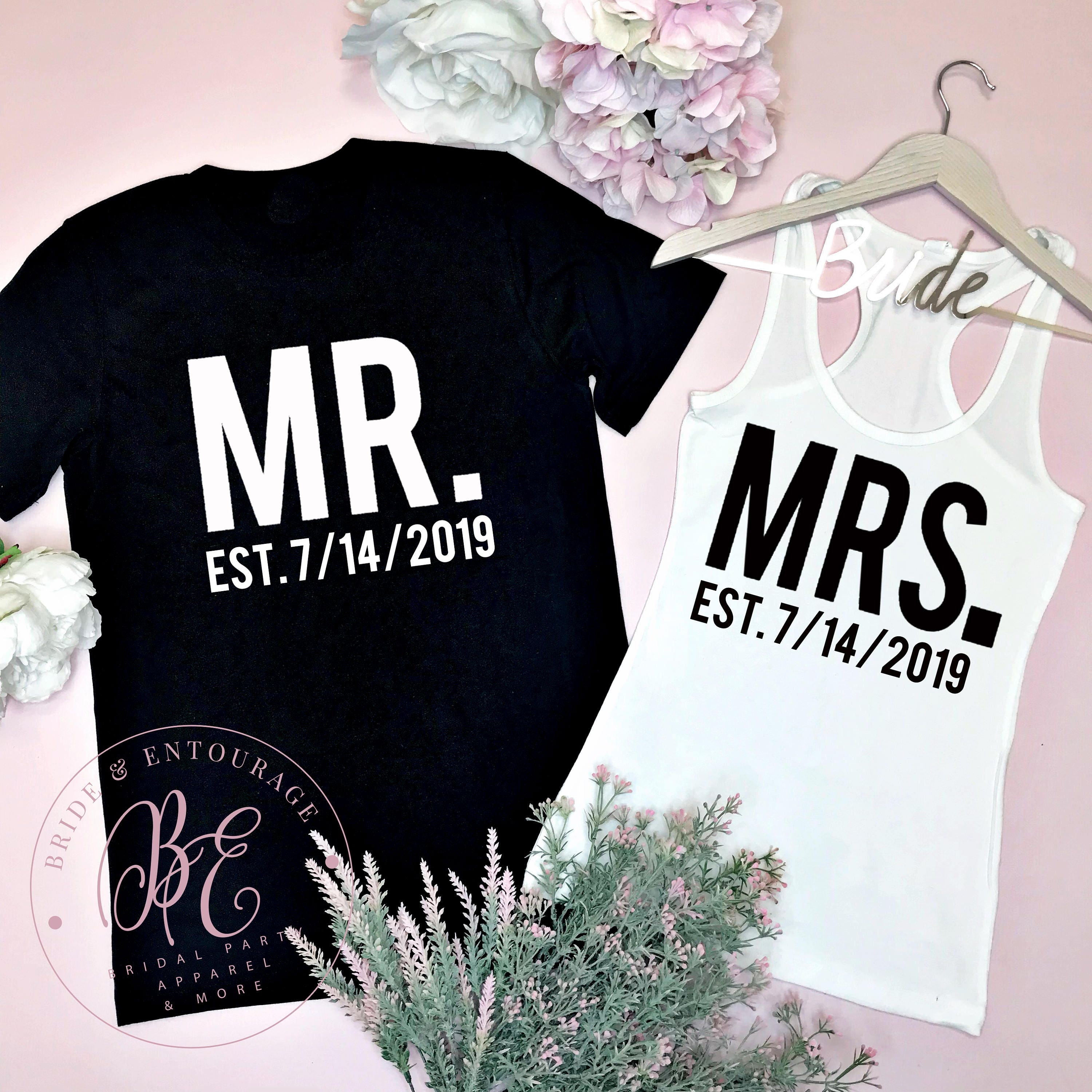 Mr and mrs couples shirts honeymoon shirts just married zoom kristyandbryce Images