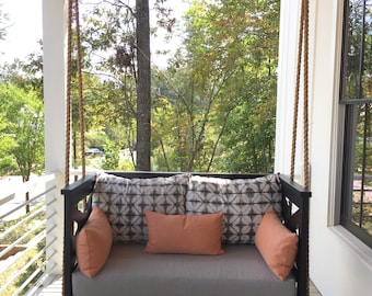 """Wooden Porch Bed Swing - """"The Allie"""" Custom Made to Order"""
