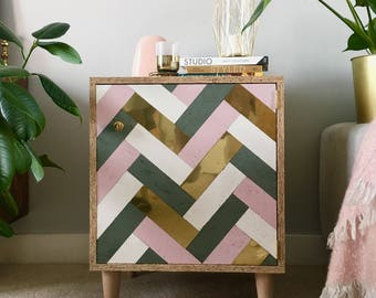 eco friendly mini OSB SIDEBOARD pastels & solid brass