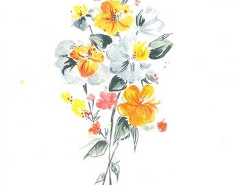 Orange & Grey delicate bouquet