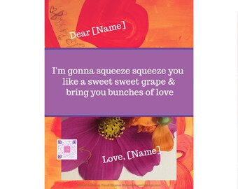 Romantic singing art print gift | custom art collage sings you happy love song | song wall art | love song art | romantic Mother's Day gift
