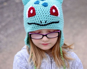Bulbasaur hat, Pokemon, Crochet By Allie