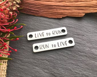 Running Shoe Tags - Gift for Runner - Mothers Day Gift - Personalised Running Shoe Tags - Marathon - Triathlon - Motivational Jewellery