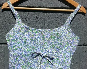 Floral Vintage Crop Top
