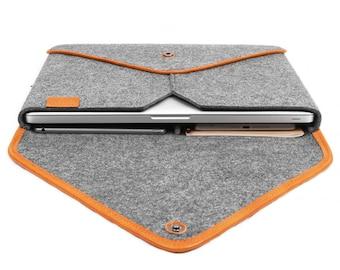 15''Macbook Sleeve Wool Felt Laptop Case Tablet Sleeve for Macbook Pro 15 Inch Retina Macbook Case Chrismas Gift Leather Envelope Edge Bag