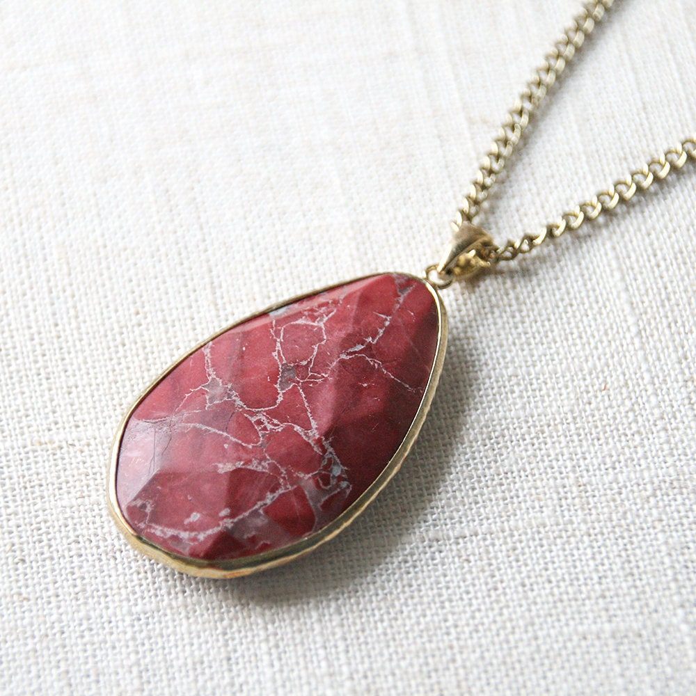 Red jasper teardrop pendant necklace set genuine large stone gallery photo gallery photo gallery photo aloadofball Choice Image