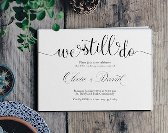 Vow renewal invite etsy we still doinvitation wedding anniversaryinvitation weddingvow renewal invitationprintable stopboris Images