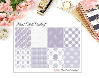 Lilac Blossom Full Box Planner Stickers for Erin Condren