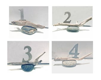 Stone table numbers etsy