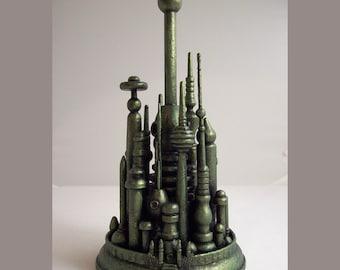 Wizard of Oz Wedding Cake Topper Emerald City Wood Miniature