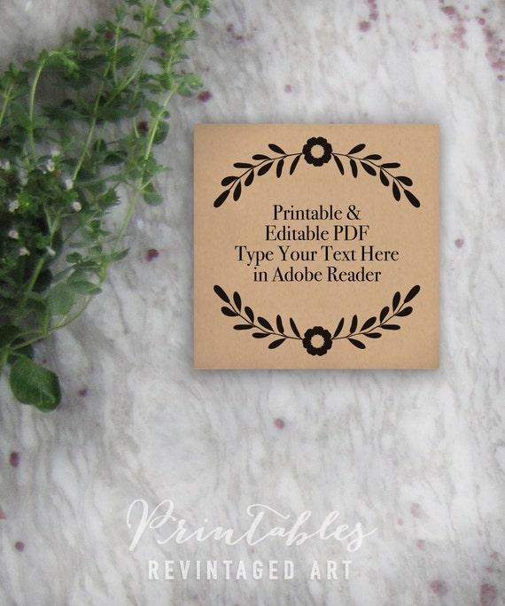 Printable Wedding Favor Tag Template // Editable Gift Tags with ...