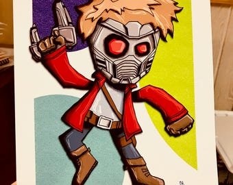 Star-Lord Guardians of the Galaxy Art Print Superhero