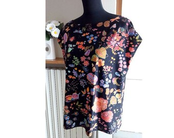 Woman T-shirt / Viscose women blouse / Fresh tops / Summer tops / Maxi t-shirt