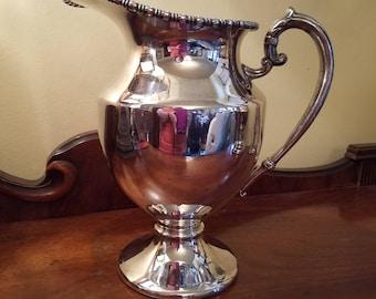 Vintage Lehman Brothers Silverplate Pedestal  Pitcher - Silverplate pItcher, vintage pitcher, Vintage silverplate, water pitcher