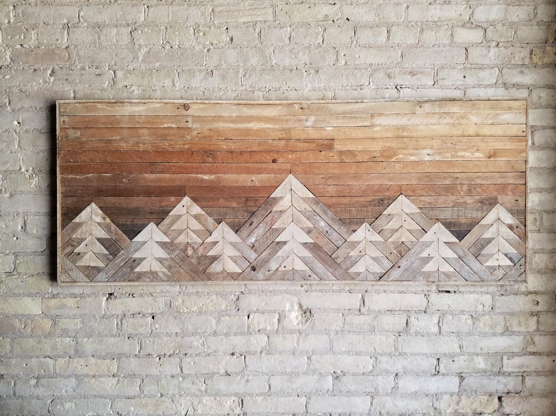 zoom Reclaimed Wood Wall Art Wall Decor