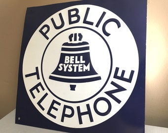 Old Original Unused Phone Sign