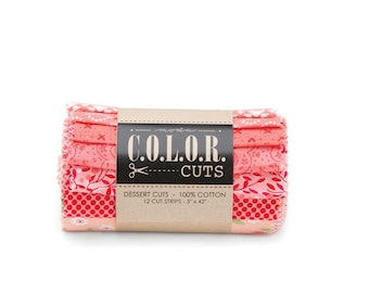 """Color Cuts Dessert Rolls - Daybreak - 12 - 5"""" strips rolled and banded"""