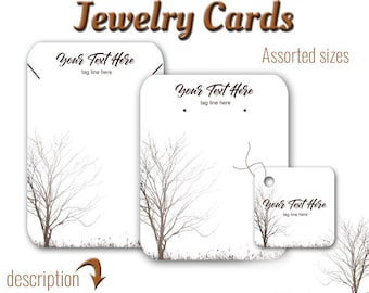 Earring Cards, Jewelry Card, Custom Card, Tags, Product Tags, Necklace Tags, Tree Design, Labels, Necklace Display, Earring Display