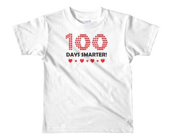 100 days smarter - 100th day of school - 100th day shirt - 100 days funny shirt – 100 days of school - school shirt - Kids Short Sleeve T-Sh