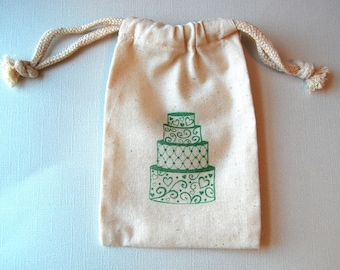 Wedding Cake Favor Bags / Set of 10 / Perfect for Wedding Favors