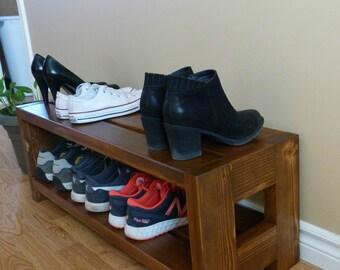 Entryway Rustic Shoe Rack, Shoe Storage, Shoe Organizer, Shoe Cabinet, Shoe Rack Wood