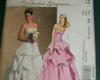 McCall's 5321 Bridal Elegance Long Formal Dresses   Size 6-8-10-12   Uncut New