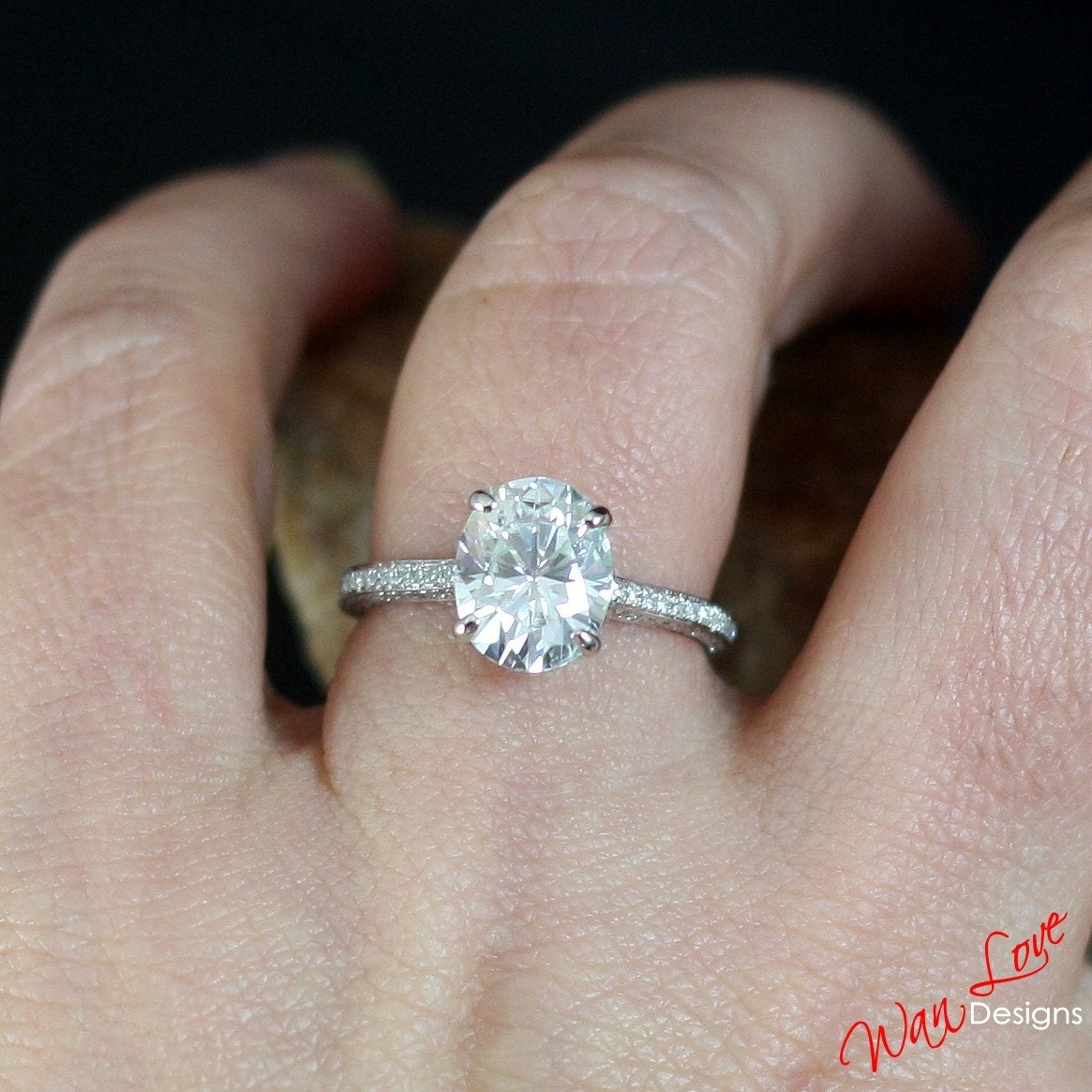 cut one round platinum fullxfull baguette rings il moissanite wedding listing forever engagement carat set ring