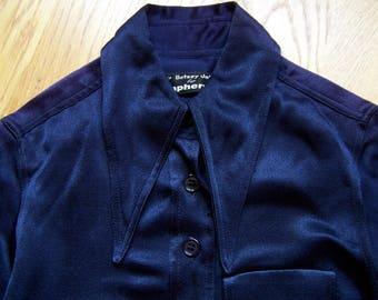 Betsey Johnson for Paraphernalia-maxi dress-maxi dress-50s 50s-Darkblue