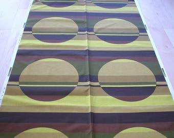 Scandinavian Original 70s Fabric, still on bolt, op art material, tissu vintage, retrostoffe, retro stoff deko, 1970s curtains