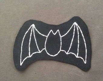 Flappy Bat Hand Embroidered Patch