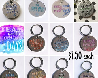 Aluminum keychain with color