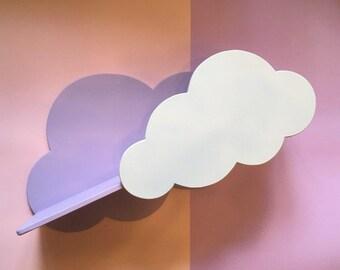 Cloud wall shelf for kids room