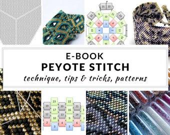 Peyote stitch e-book, complete guide to peyote stitch, step-by-step instructions, schemes and patterns, PDF - PEYOTE STITCH digital dowload
