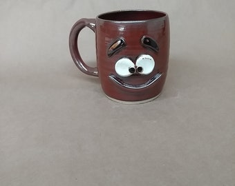 NEW. Laid Back Relaxed Coffee Cup. Still Lives With His Mother Mug. Hilarious Coffee Cups. Big Oversize 16 Ounces. Handmade Ceramic Pottery