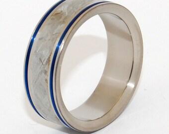 Titanium Wedding Ring, Meteorite Ring, Mens Ring, Womens Ring, something blue, wedding band, Unique Wedding Ring - INTERGALACTIC FANTASTIC