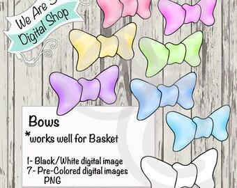 We Are 3 Digital Shop, Bows, Digital Stamp, Basket accessory