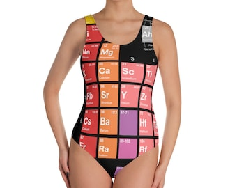 Periodic Table of Elements Swimsuit Chemistry Science Geeky Nerdy and Awesome
