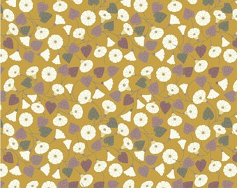 Granny-pop-out-of-beds On Mustard Yellow  A254.1 - THE HEDGEROW - Lewis and Irene - By the Yard
